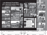 Final Black and White Yearbook Spread Page